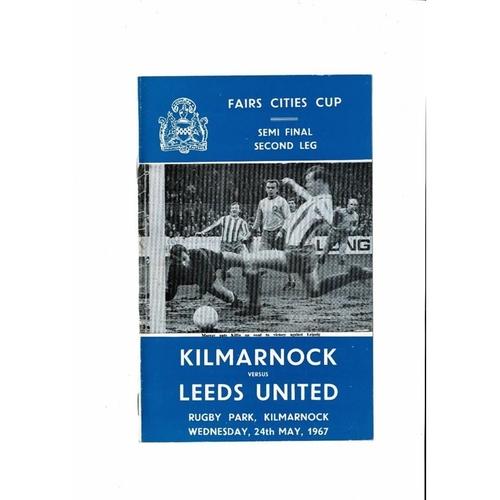 1967 Kilmarnock v Leeds United UEFA Fairs Cup Semi Final Football Programme