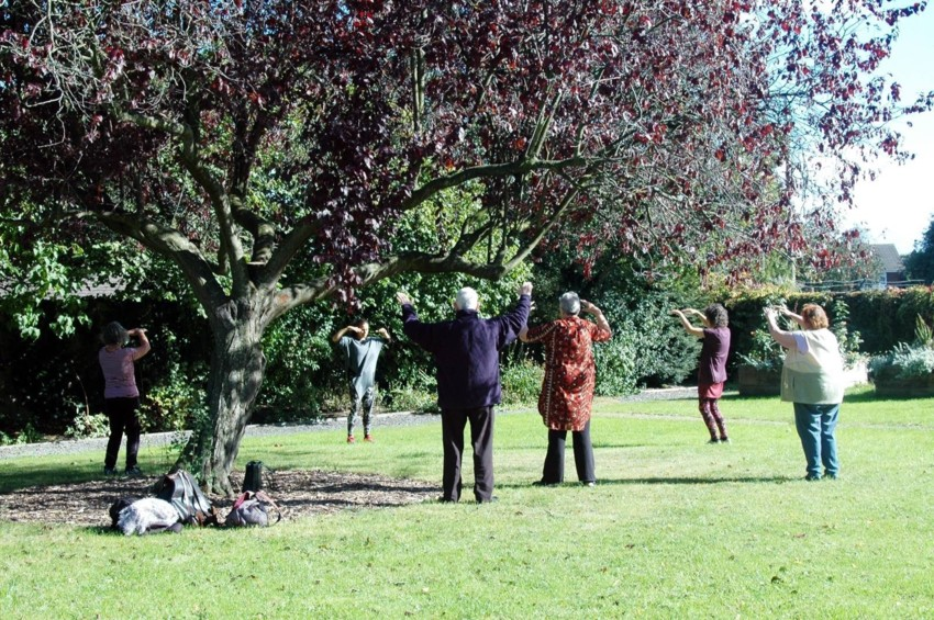 Wellbeing outdoors relaxation tai chi
