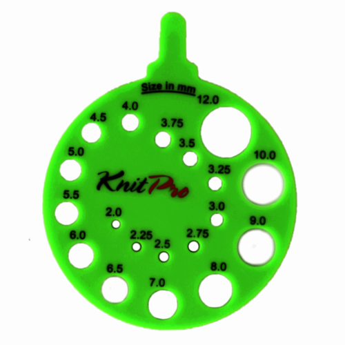 Knit Pro Round Needle Size Gauge
