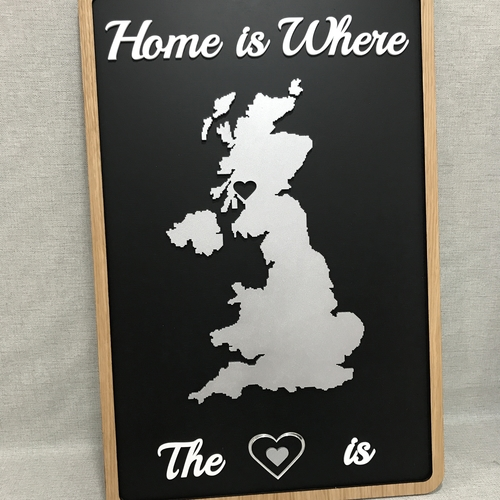 """Home is where the heart is"" wall plaque"