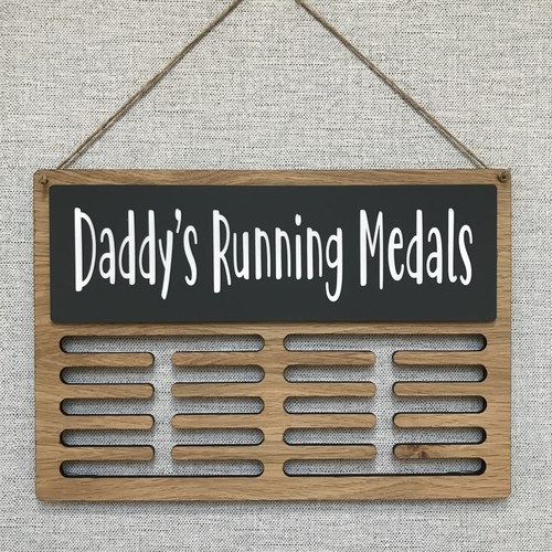 """DAD'S MEDALS "" medal display hanger"