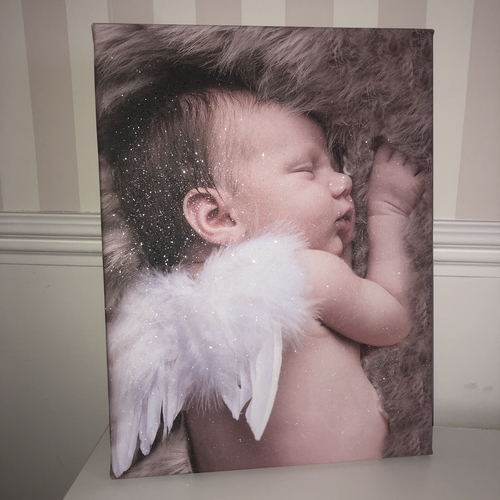 Glitter Photo Canvas
