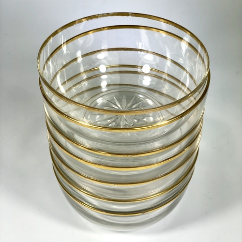 Pretty gold rimmed 19th Century bowls