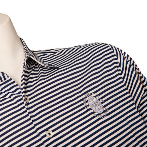Donald Ross DR019 - Short Sleeve Stripe - Navy/White