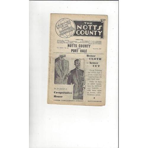 Notts County Home Football Programmes