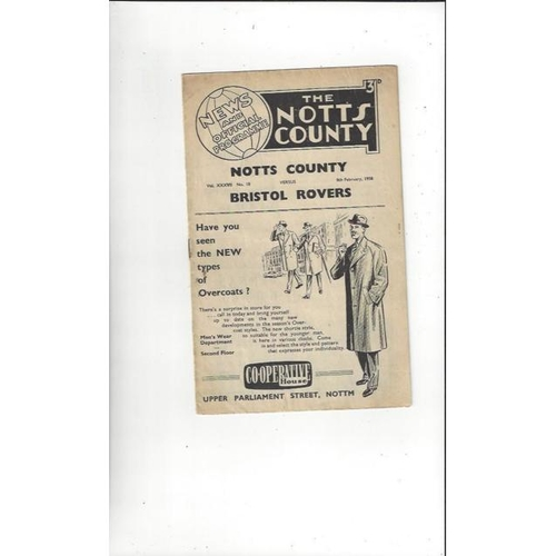 Notts County Home Football Programmes
