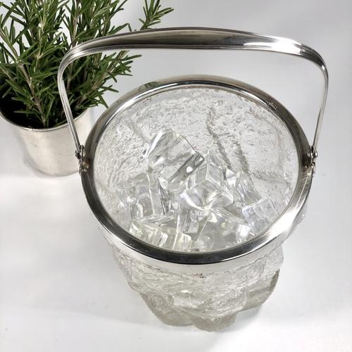 Art Deco glass 'iceberg' ice bucket