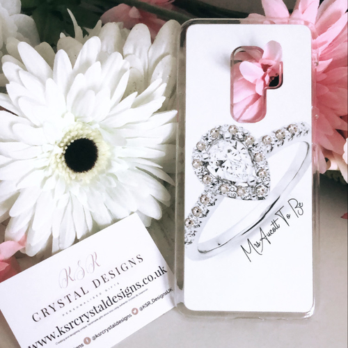 Swarovski Crystal Wedding Ring Personalised Phone Case