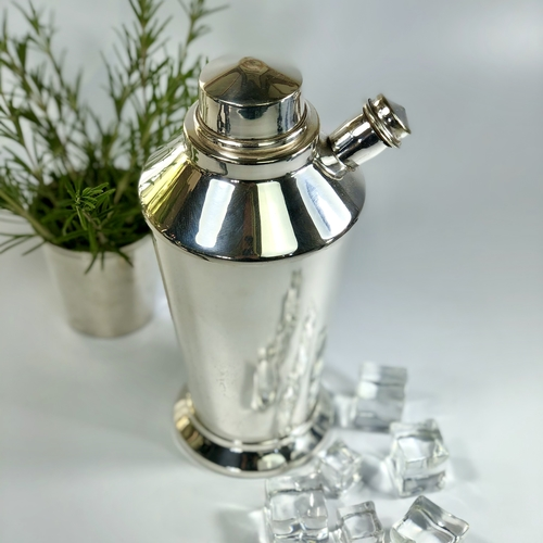 English silver plated spout cocktail shaker