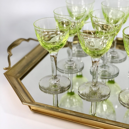 Set of Uranium Val Saint Lambert wine glasses