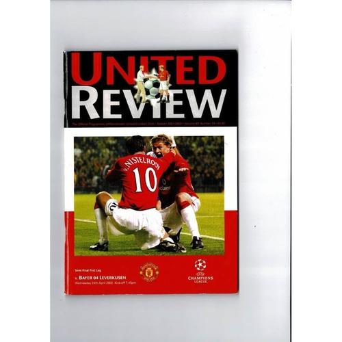 2002 Manchester United v Bayer Leverkusen Champions League Football Programme