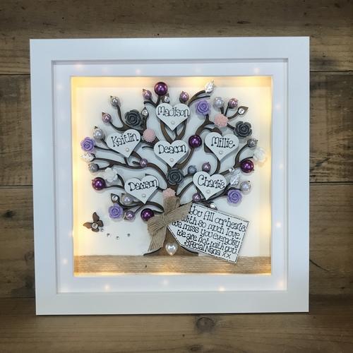 """ floral nana "" family tree frame"