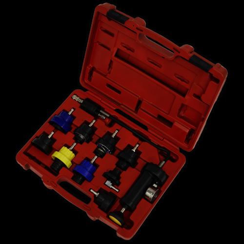 Cooling System Pressure Test Kit 10pc - Sealey - VS0013