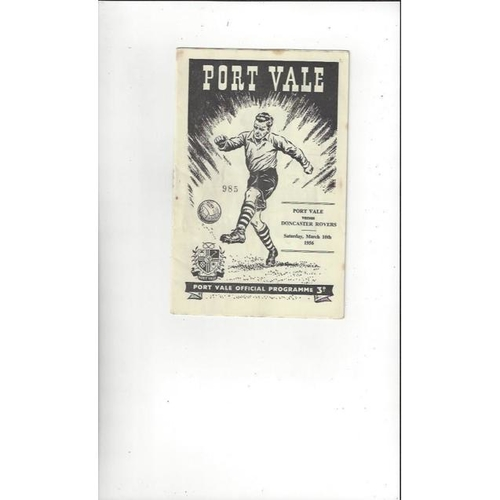 1955/56 Port Vale v Doncaster Rovers Football Programme