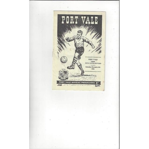 1956/57 Port Vale v Doncaster Rovers Football Programme