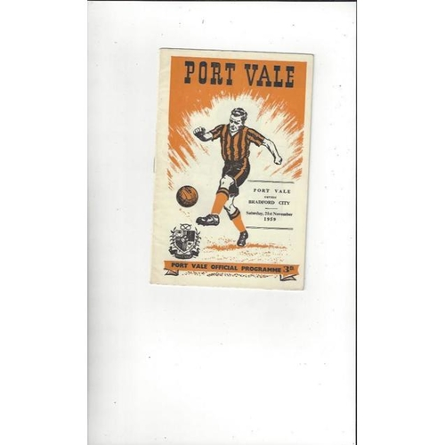 Port Vale Home Football Programmes
