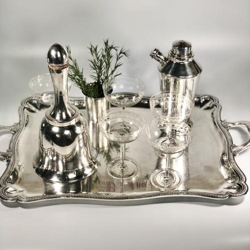 Iconic Asprey Art Deco 'bell' cocktail shaker