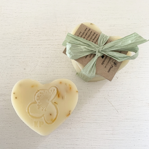 English Chamomile and Dorset Calendula Soap Heart
