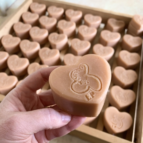 Rose Clay and Geranium Soap Heart