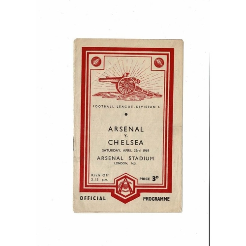 1948/49 Arsenal v Chelsea Football Programme