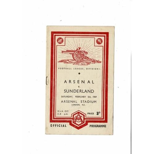 1948/49 Arsenal v Sunderland Football Programme