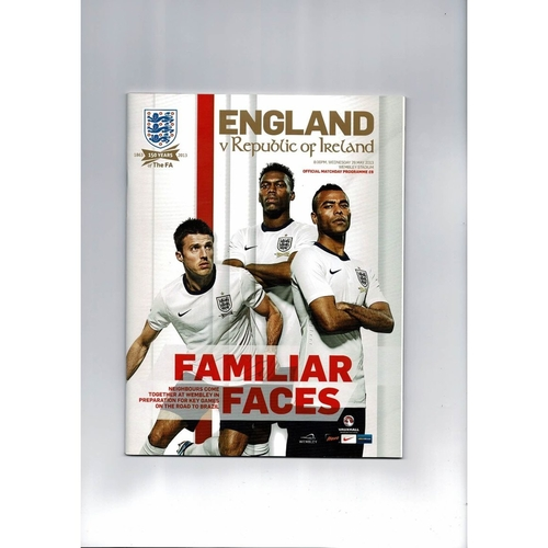 2013 England v Republic of Ireland Football Programme