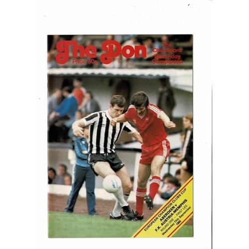 Aberdeen v Austria Memphis European Cup Football Programme 1980/81