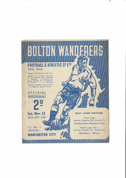 Many Football Programmes listed today