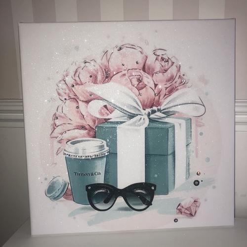 Glitter Tiffany Canvas