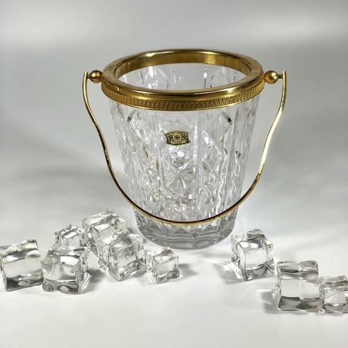 Mid Century crystal ice bucket by Val Saint Lambert