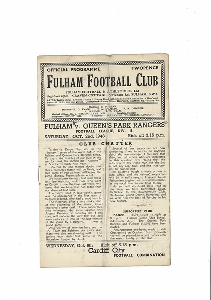 Latest News at Bobs Football Programmes