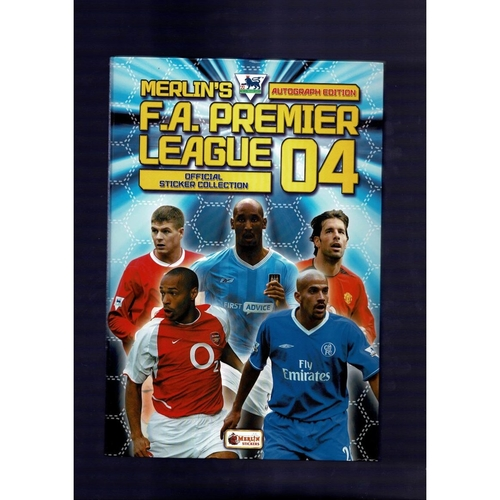 2004 Merlin's Premier League sticker Album - Complete with Hardback Binder