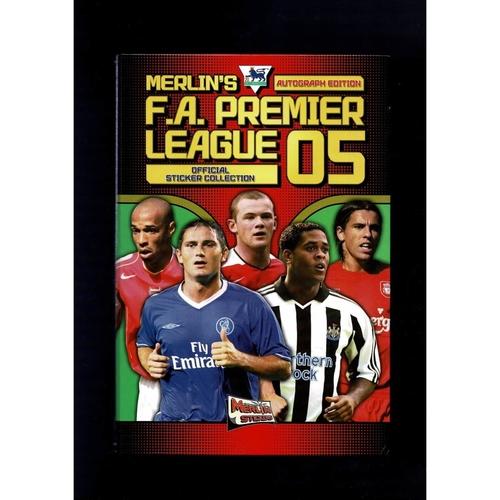 2005 Merlin's Premier League sticker Album - Complete with Hardback Binder
