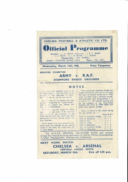 More Football Programmes listed today
