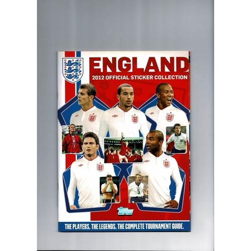 2012 Topps England Sticker Album - Complete