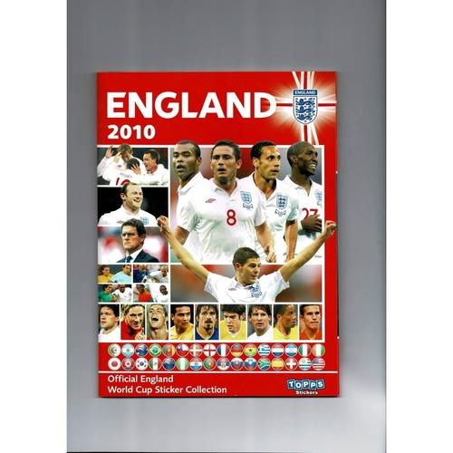 2010 Topps England sticker Album - Complete