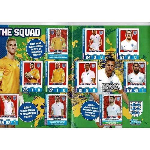 2014 Topps England Sticker Album - Complete