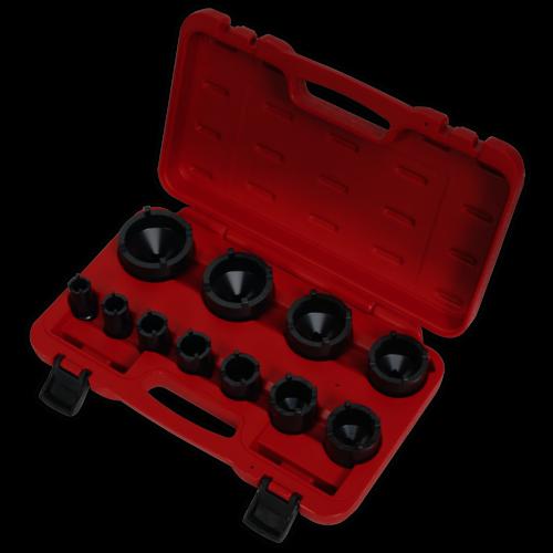 """Ball Joint Socket Set 11pc 1/2""""Sq Drive - Sealey - CV025"""
