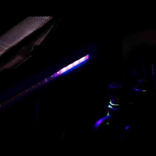 Rechargeable 360° Slim Inspection Lamp 16 SMD LED + 1W LED + UV Light Black Lithium-ion - Sealey - LED3604UV