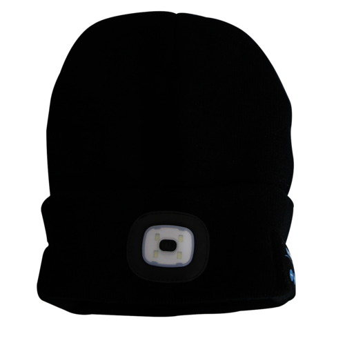 Beanie Hat LED USB Rechargeable with Wireless Headphones - Sealey - LED185W