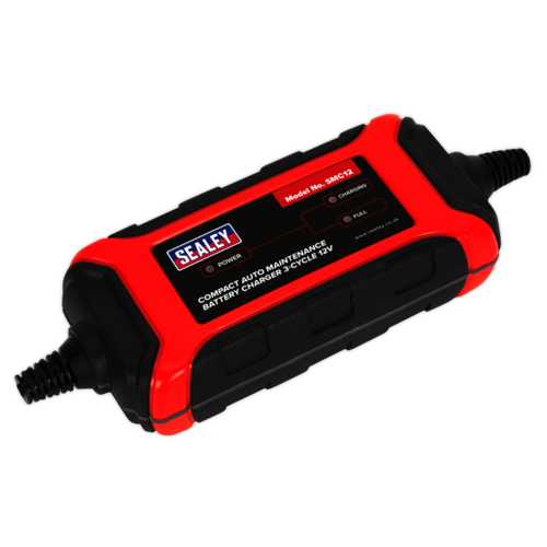 Battery Charger Compact Auto Maintenance 1.5A - 3-Cycle 12V - Sealey - SMC12