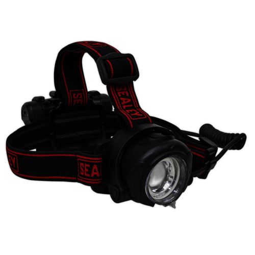 Head Torch 5W CREE XPG LED Rechargeable with Adjustable Focus & Brightness - Sealey - HT107R