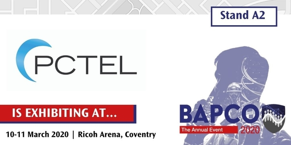 See BT2000 on PCTEL Stand A2 at BAPCO, Coventry in March 2020