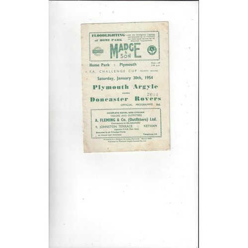 Plymouth Argyle Home Football Programmes