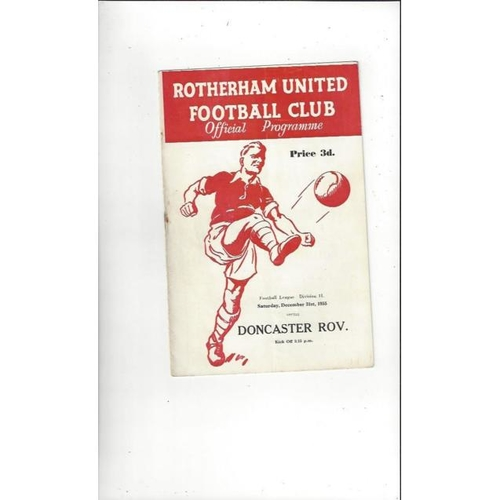 1955/56 Rotherham United v Doncaster Rovers Football Programmes