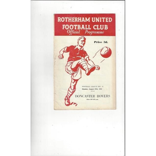 1956/57 Rotherham United v Doncaster Rovers Football Programmes