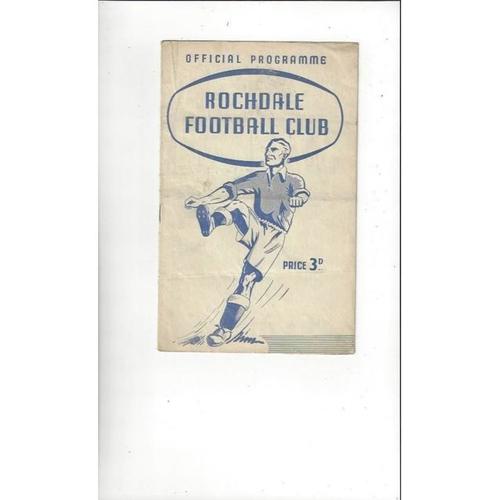 Rochdale Home Football Programmes