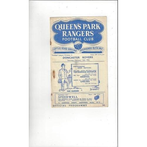 Queens Park Rangers Home Football Programmes