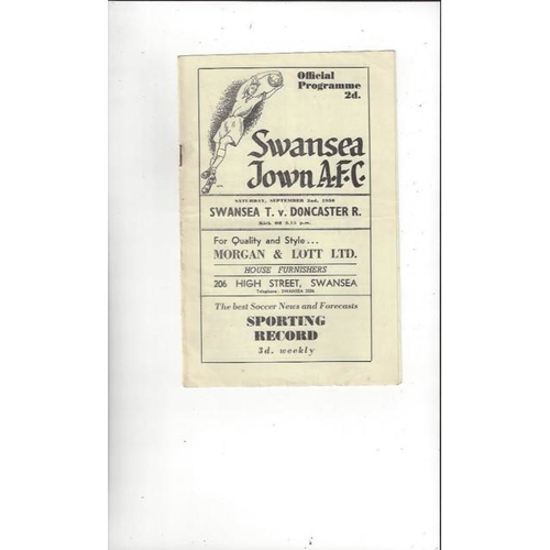 1950/51 Swansea v Doncaster Rovers Football Programme