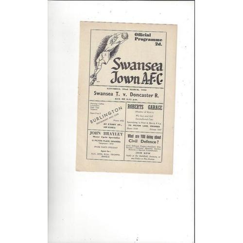 Swansea Home Football Programmes